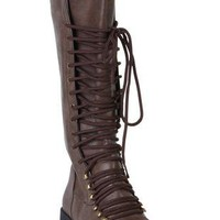 flat lace up riding boot - debshops.com