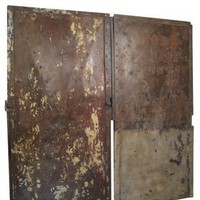 Lucca Antiques - Garden & More: Industrial Pair of Metal Doors