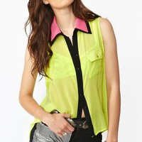 Pop Collar Blouse