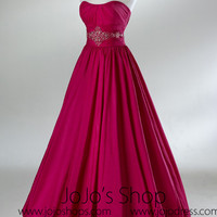 Pink Ball Gown Bubble Hem Formal Graduation Prom Evening Dress HB2016A