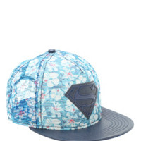 DC Comics Superman Sublimation Floral Mesh Snapback Hat