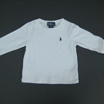 Ralph Lauren POLO Infant Boy's Sweat Shirt Long Sleeve White 9M / New With Tags