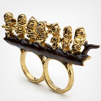 Disney Couture Seven Dwarves Double Finger Ring