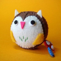 Owl Measuring Tape by feltmates on Etsy