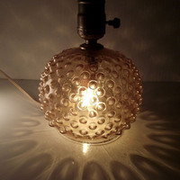 Vintage Honey Hobnail Glass Lamp by TheVintageLacy on Etsy