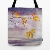 Faded Leaves - JUSTART © Tote Bag by JUSTART  * Syl *