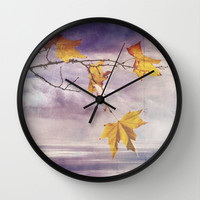 Faded Leaves - JUSTART © Wall Clock by JUSTART  * Syl *