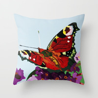 Butterfly   Throw Pillow by Marjolein