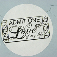 Love Stickers Tickets Envelope Seals Favor Seals Labels Qty 60