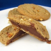 Chocolate or Peanut Butter that is the question Stuffed Cookies 2 dozen