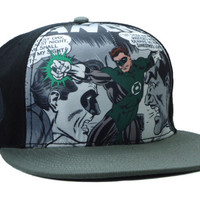Green Lantern Comic Collage Snap-back Cap for Adults - Default Title / Multi-color, Black / adult