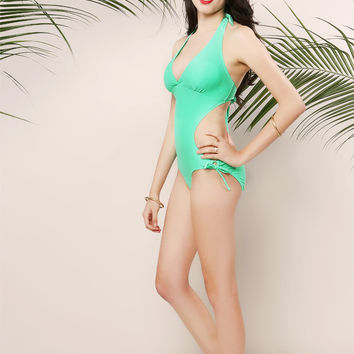 Side Back Cut Out Swimsuit