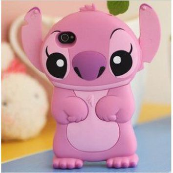 3D Stitch Style iPhone 4G/4/4S Hard Case/Cover(Pink)