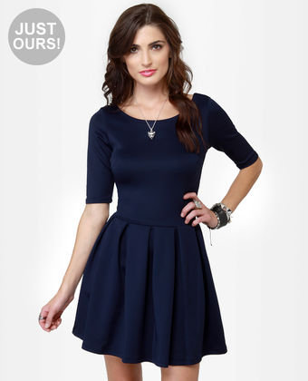 Navy Blue Sweet Thing Dress