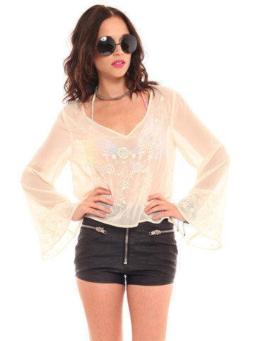 GYPSY WARRIOR - Anita Rose Embroidered Top