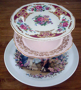 proposal royal vintage cake stand by once upon a tea cup | notonthehighstreet.com