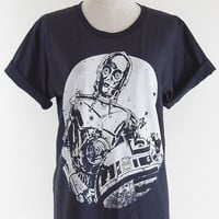 Star Wars T-Shirt R2-D2 & C-3PO -- Star Wars Shirt R2D2 T-Shirt Women T-Shirt Men T-Shirt Tee Shirt Black T-Shirt Movie T-Shirt Size L
