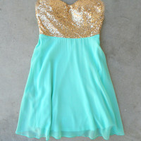 Sparkle & Mint Party Dress [6460] - $44.20 : Vintage Inspired Clothing & Affordable Dresses, deloom | Modern. Vintage. Crafted.
