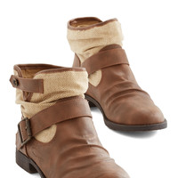ModCloth Rustic Can You Kick It? Bootie in Brown