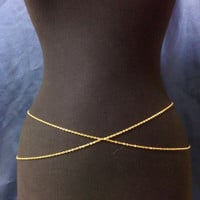 Belly Chain ,Gold Plated Belly Chain