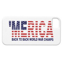 &#x27;MERICA World War Champs US Flag iPhone 5 Case