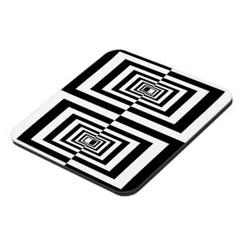 Black and White Abstract Geometric Rectangles