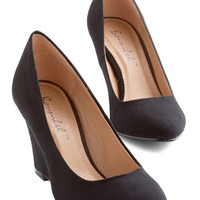ModCloth Minimal All Work and Go Play Wedge in Black