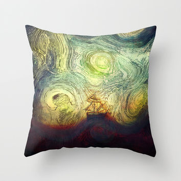 Starry sailing Throw Pillow by SensualPatterns
