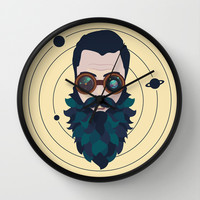 Space Traveler Wall Clock by BadOdds