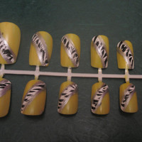 Yellow Base/ White Zebra
