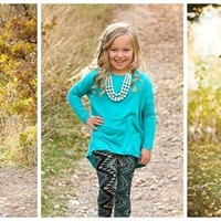{Toddler Sizes added} Kids Oversized Piko Tunic Top- 20 Colors!