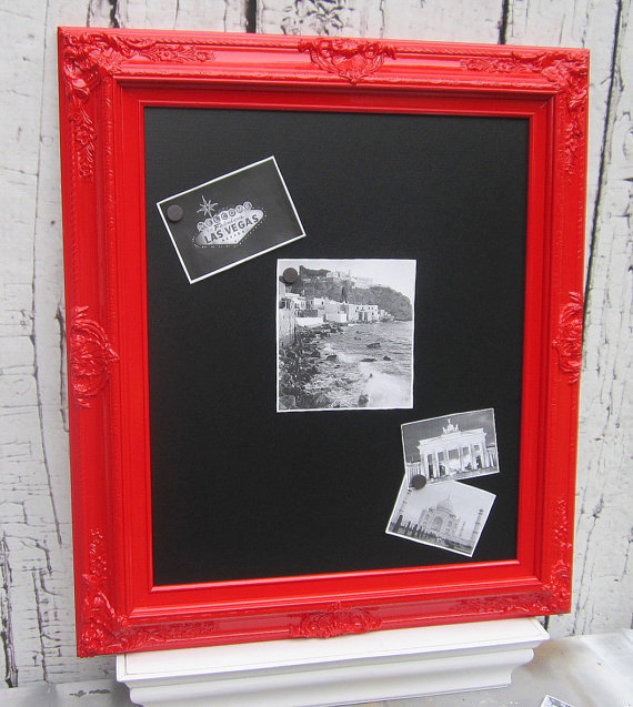 Kitchen Wall Decor In Red : Red magnetic chalkboard furniture wall from revivedvintage on