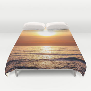 Sunset Sea Duvet Cover by Pati Designs