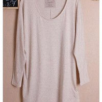 Candy Casual Long Sleeve Autumn Ivory Cotton Women Blouse One Size@WH0041i $7.89 only in eFexcity.com.