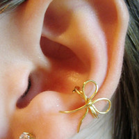 Dainty Bow Ear Cuff