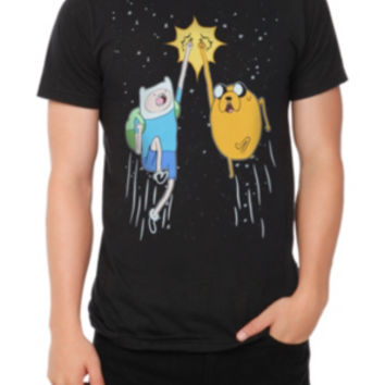 Adventure Time Finn And Jake Fist Bump T-Shirt 2XL