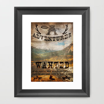 Adventurer Wanted Framed Art Print by Diogo Verissimo