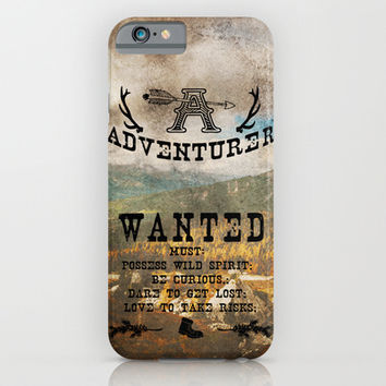 Adventurer Wanted iPhone & iPod Case by Diogo Verissimo