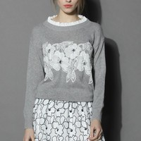 Delicate Angora Sweater in Grey