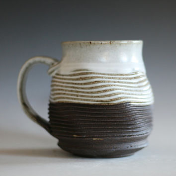 Twisted Coffee Mug, 18 oz, handmade ceramic cup, tea cup, coffee cup, handthrown ceramic stoneware pottery mug, unique coffee mug