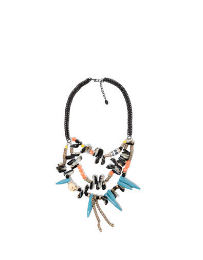SKULL NECKLACE WITH CHAINS AND GEMSTONES - Accessories - Accessories - Woman - ZARA United States