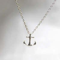 Tiny Anchor Necklace - S2274-1