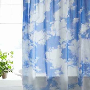 Allover Clouds Shower Curtain- Blue One