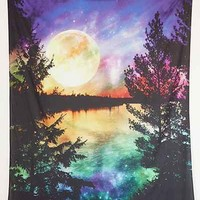 Magical Thinking Moon Lake Tapestry- Purple Multi One