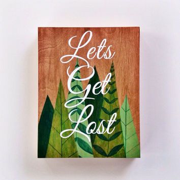 Travel art, Inspirational travel quote, typography painting on wood, 11 x 14