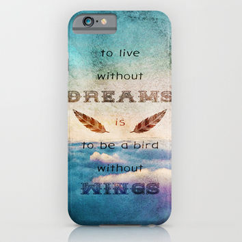 Dreams Are Wings iPhone & iPod Case by Diogo Verissimo