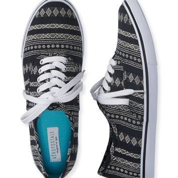 Aeropostale  Tribal Low-Top Sneaker - Black,