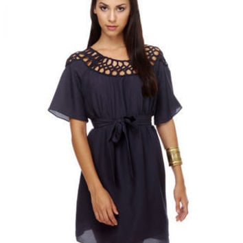 Agent 99 Navy Blue Dress