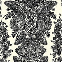 Lace Black & Ivory Wallpaper