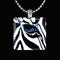Eye of Zebra Glass Pendant